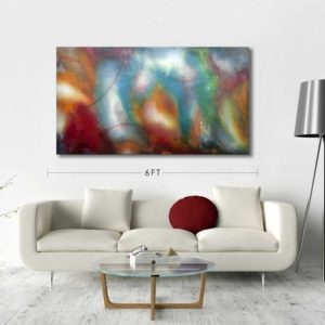Original Abstract Painting by Toronto Artist Robert Slivchak