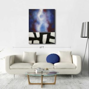 Red White and Blue Abstract Painting by Robert Slivchak